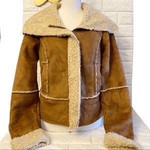 Decree Faux Fur Aviator Jacket